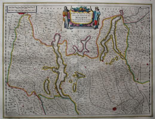 Janssonius Milaan en berggebied