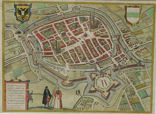 Braun & Hog. plattegrond Groningen