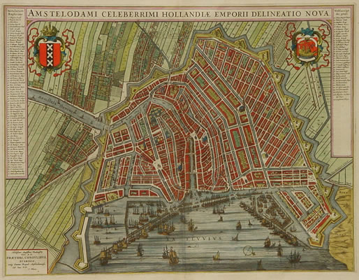 Blaeu Amsterdam plattegrond